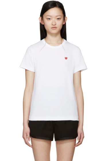 Comme des Garçons Play - White Small Heart Patch T-Shirt