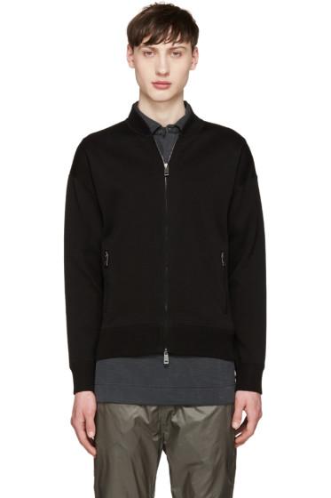 Jil Sander - Black Knit Zip-Up Sweater
