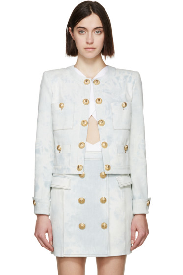 Balmain - Blue Denim Gold Buttons Jacket