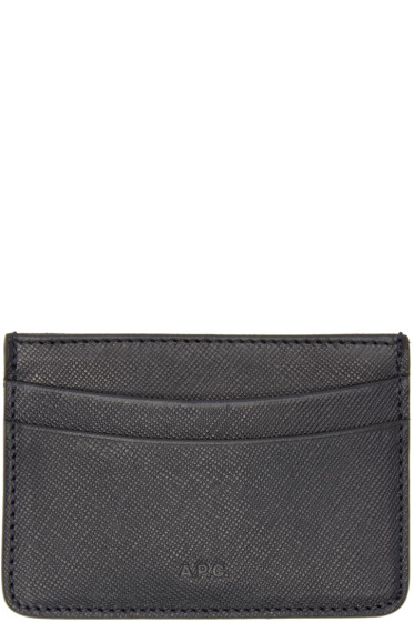 A.P.C. - Black Leather Card Holder