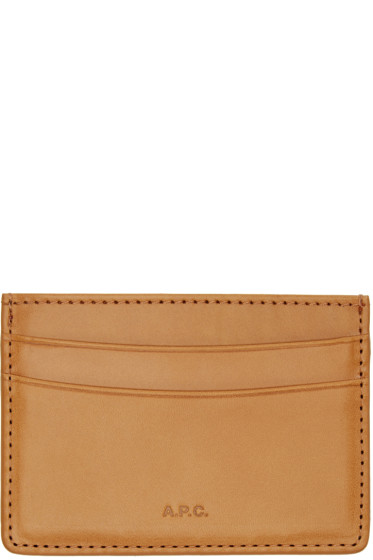 A.P.C. - Tan Leather Card Holder
