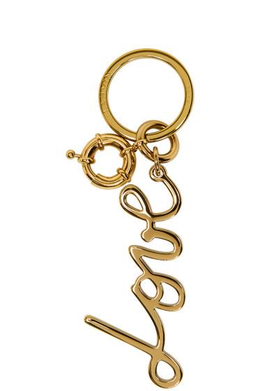 Lanvin - Gold Love Keychain