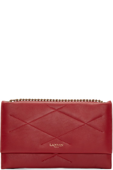 Lanvin - Red Quilted Chain Sugar Clutch