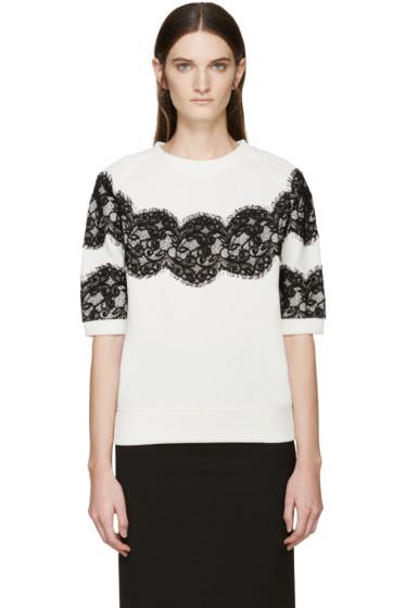 Lanvin - Ivory Lace Appliqué Pullover