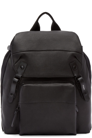 Lanvin - Black Grained Leather Backpack
