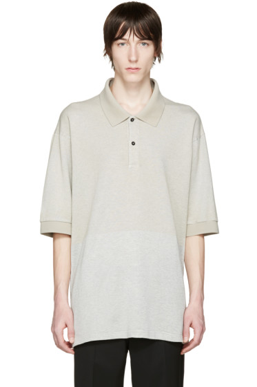 Lanvin - Grey Oversized Polo
