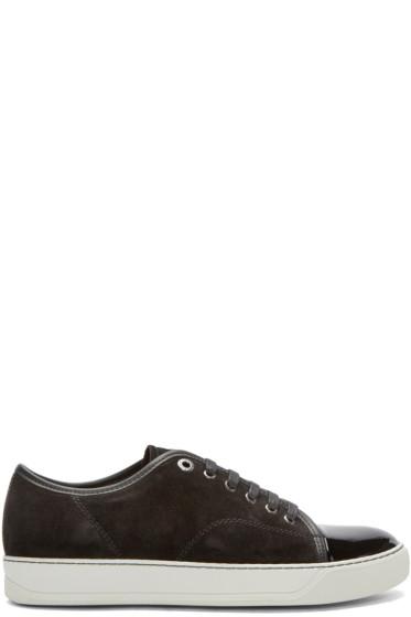 Lanvin - Black Suede & Leather Tennis Sneakers