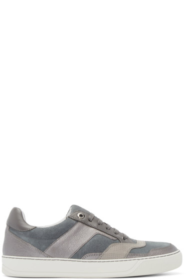 Lanvin - Grey Suede & Leather Sneakers