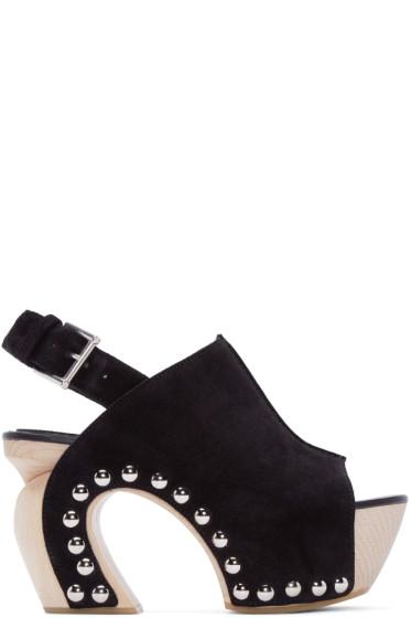 Alexander McQueen - Black Suede Studded Sandals