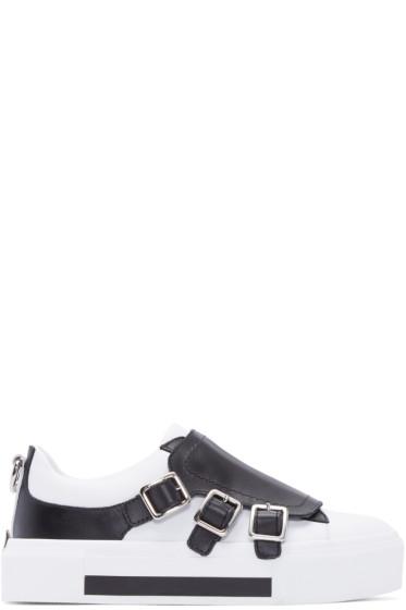 Alexander McQueen - White Colorblock Buckle Sneakers