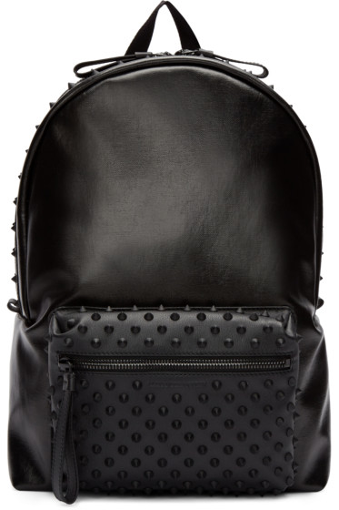 Alexander McQueen - Black Canvas Studded Backpack