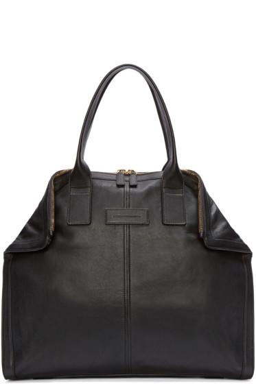 Alexander McQueen - Black Leather Small De Manta Tote