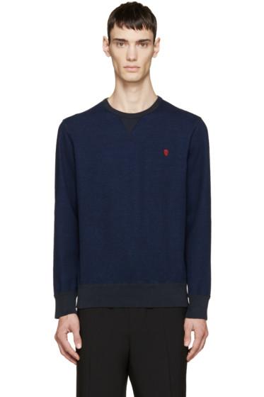 Alexander McQueen - Indigo Denim Effect Sweatshirt