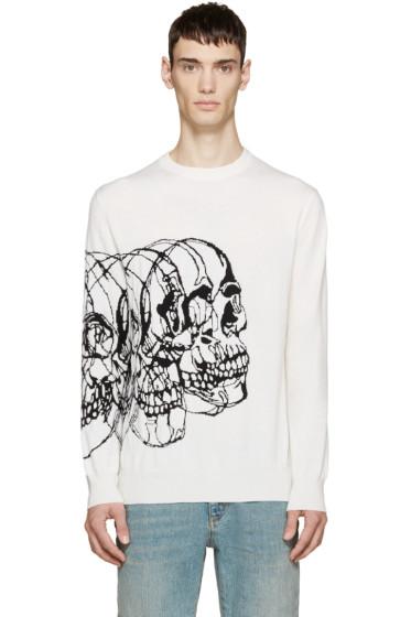 Alexander McQueen - Ivory Knit Best Skulls Sweater