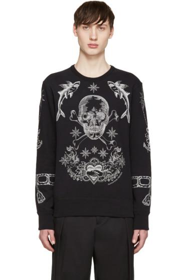 Alexander McQueen - Black Skull & Tattoo Pullover