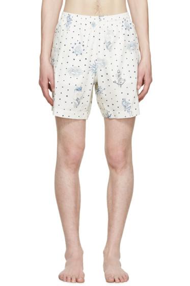 Alexander McQueen - Cream Tattoo Swim Shorts