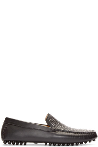 Alexander McQueen - Black Leather Liliput Driver Loafers