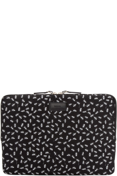 Paul Smith - Black Ant Print Laptop Case
