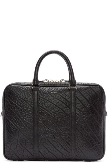 Paul Smith - Black Bull Hide Leather Briefcase