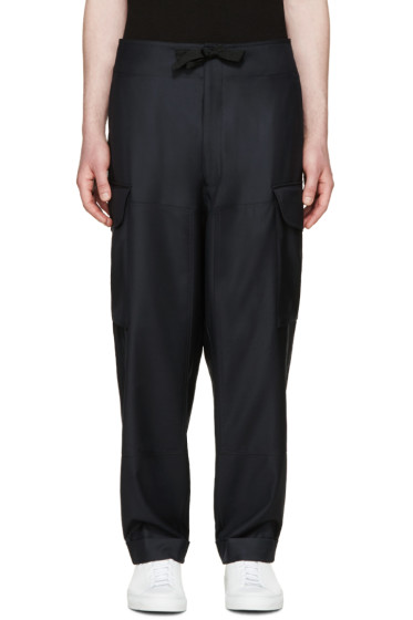 Paul Smith - Navy Wool Cargo Pants