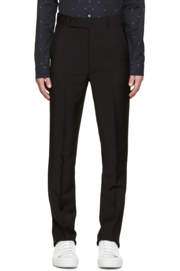 Paul Smith - Black High-Waisted Trousers