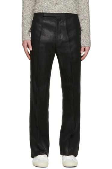 Paul Smith - Black Metallic Flare Trousers