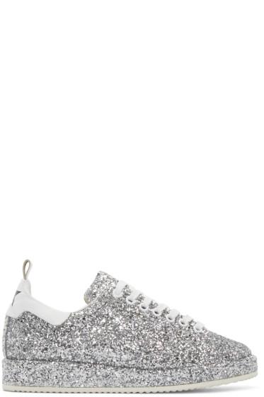 Golden Goose - Silver Glitter Starter Sneakers