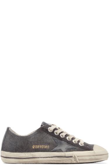 Golden Goose - Grey Canvas V-Star Sneakers