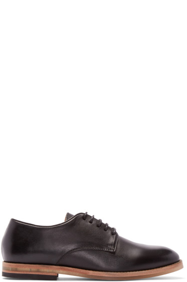 H by Hudson - Black Leather Hadstone Derbys