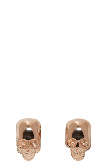 Givenchy - Rose Gold Double Skull Earrings