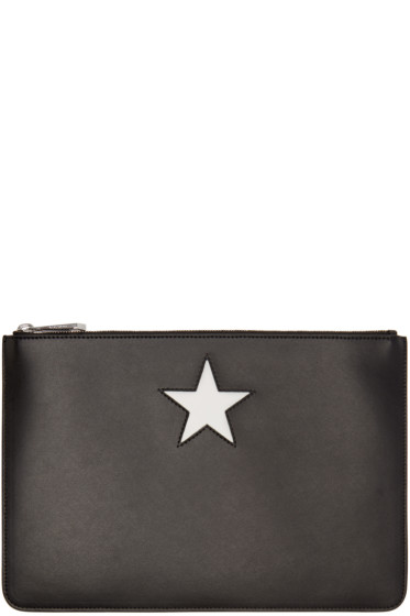 Givenchy - Black Star Zip Pouch