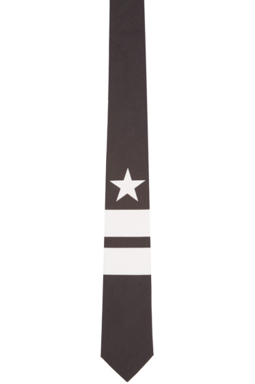 Givenchy - Black Stripes and Star Tie