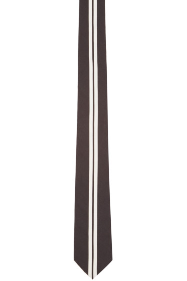 Givenchy - Black & White Striped Tie