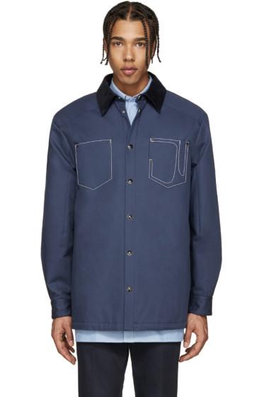 Givenchy - Blue Corduroy Collar Jacket