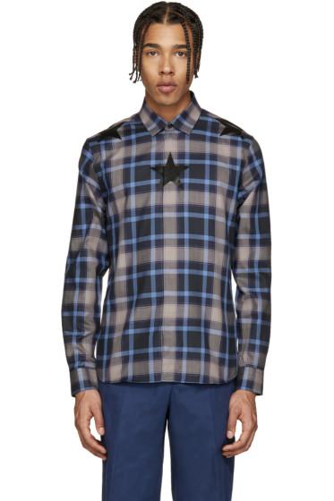 Givenchy - Navy Check Star Shirt