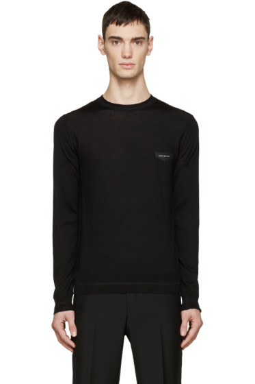 Givenchy - Black Wool Logo Patch Sweater