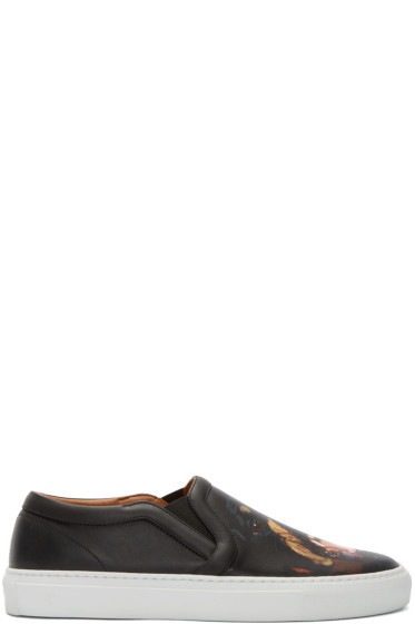 Givenchy - Black Rottweiler Slip-On Sneakers