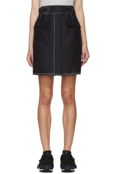 3.1 Phillip Lim - Navy Contrast Stitching Skirt