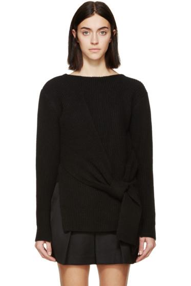 3.1 Phillip Lim - Black Draped Tie Sweater