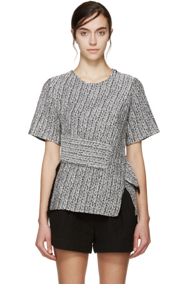 3.1 Phillip Lim - Silver Braided Knit Top