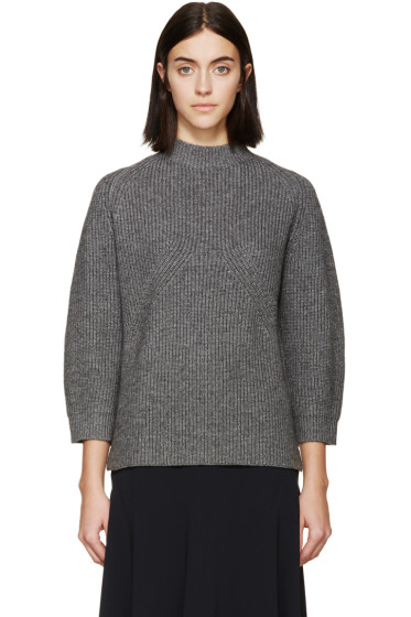 3.1 Phillip Lim - Grey Ribbed Knit Sweater