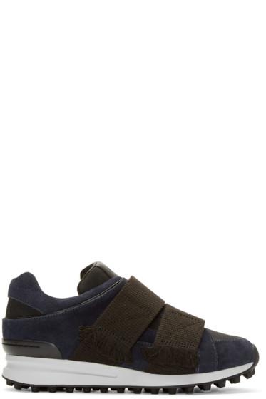 3.1 Phillip Lim - Navy & Black Suede Low-Top Trance Sneakers
