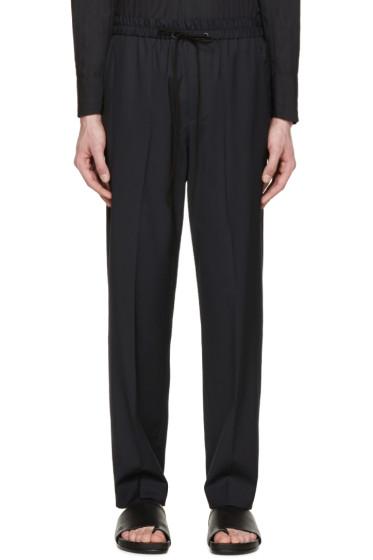 3.1 Phillip Lim - Navy Drawstring Trousers