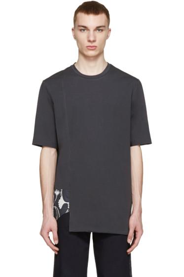 3.1 Phillip Lim - Black Ginkgo Print T-Shirt