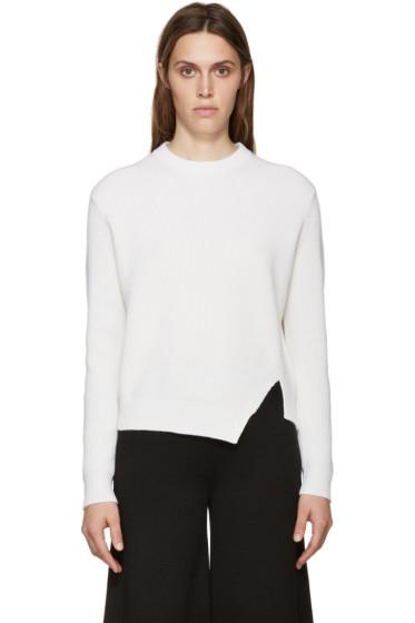 Proenza Schouler - Ivory Asymmetric Sweater