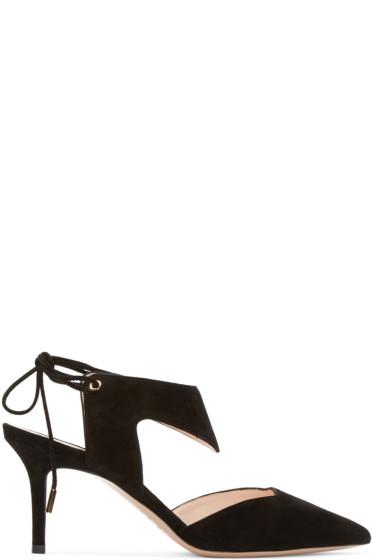 Nicholas Kirkwood - Black Suede Leda Heels