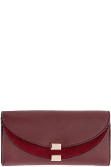 Chloé - Purple Long Georgia Wallet