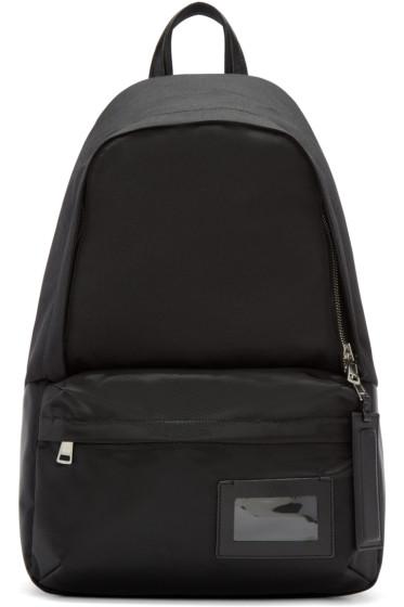 Juun.J - Black Nylon Backpack