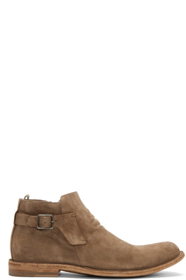 Officine Creative - Tan Distressed Suede Boots