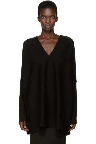 Gareth Pugh - Black Knit Draping Sweater